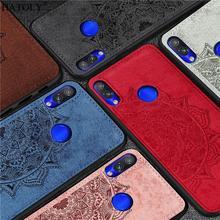 For Cover Xiaomi Redmi 7 Case Silicon Rubber Shell TPU Cloth Texture Back Phone