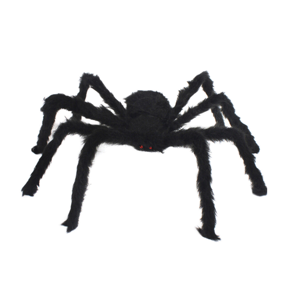 Halloween spider decoration - 1pcs New Halloween Horrible Big Black Furry Fake Spider Size 30 10cm Creep Trick Or Treat Halloween Decoration Drop Shipping