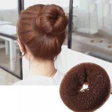 1 pc Lady Girl Magic Blonde Donut Hair Ring Bun Former Shaper Hair Styler Maker Tool