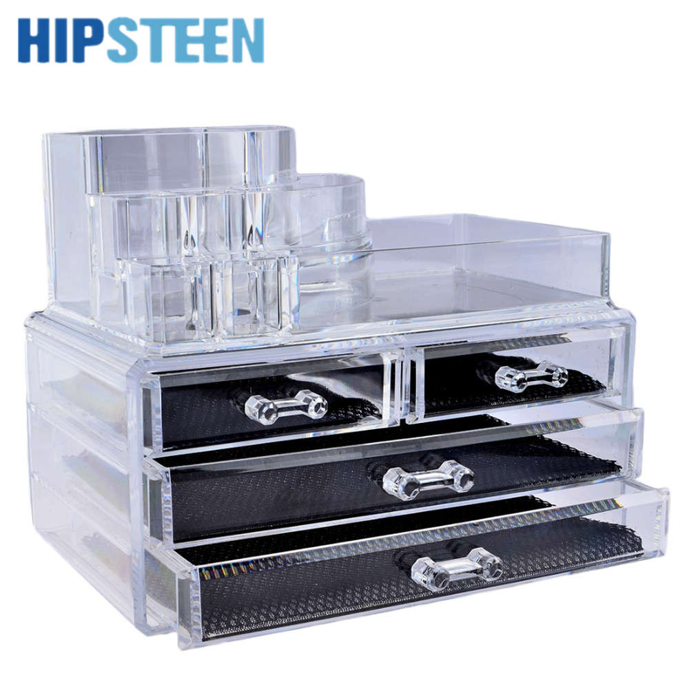 Tin bread box drawer insert - Hipsteen Clear Acrylic Makeup Organizer Cosmetic Organizer Cosmetic Storage Drawer Makeup Case Storage Holder Box Organizador