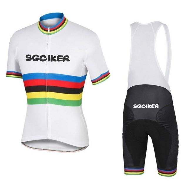 2017 peter sagan white champion cycling jersey Bicycle maillot MTB Short  sleeve quick dry bike clothing 3D GEL pad Ropa Ciclismo cd0e6ffb8