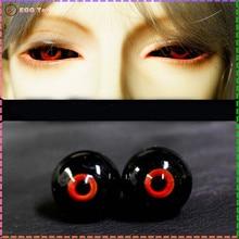 Olhos de brinquedo de vidro olhos para boneca bjd olhos bola pequena íris 12mm 16mm 18mm cor vermelha preta para 1/4 1/6 1/3 sd lotita bjd bonecas safeye