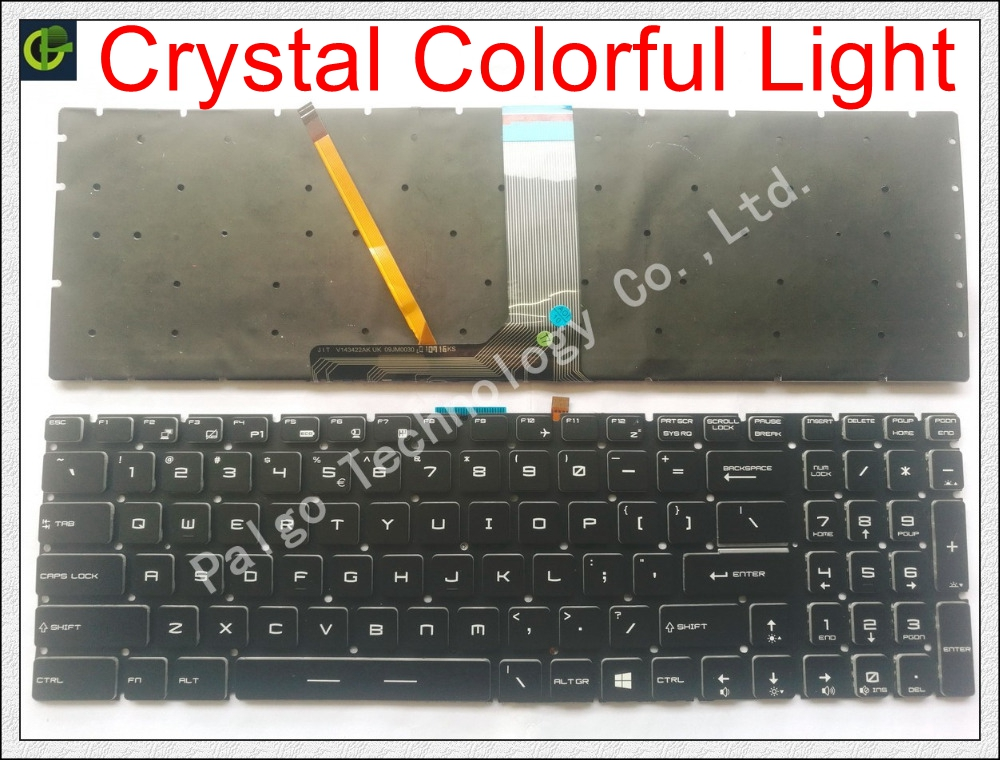 New English Crystal Backlit Keyboard for MSI GP72 WS60 PE72 GP62VR GE62V GT73VR GS73VR CX62 GT72VR GT83VR GL627RDX gt62vr US цена 2017