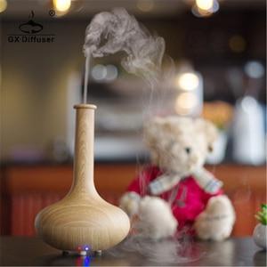 Image 2 - GX. Diffusor Licht Holz 160ml Ultraschall Nebel Maker Luftbefeuchter Ätherisches Öl Diffusor Aroma Diffusor Aromatherapie Haushalt