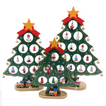 New Christmas tree wooden ornaments Gift DIY Christmas Ornaments Festival Party Xmas Tree Table Desk Decoration Toy Hanging Tree