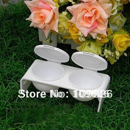 Free Shipping Nail Art Tools Double Dish ACRYLIC LIQUID CASE DISH TRAY Nail BOWL