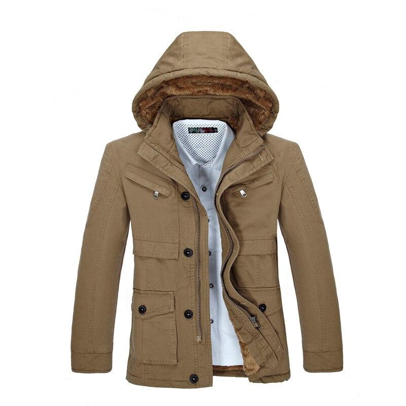 Зимние толстые новый модный бренд Для мужчин теплая флисовая куртка с капюшоном Пальто для будущих мам длинные пальто хлопковые пиджаки Дл...