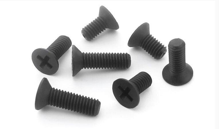 100pcs M2 x 8mm Nylon Screws countersunk Head Flat Head Screws White