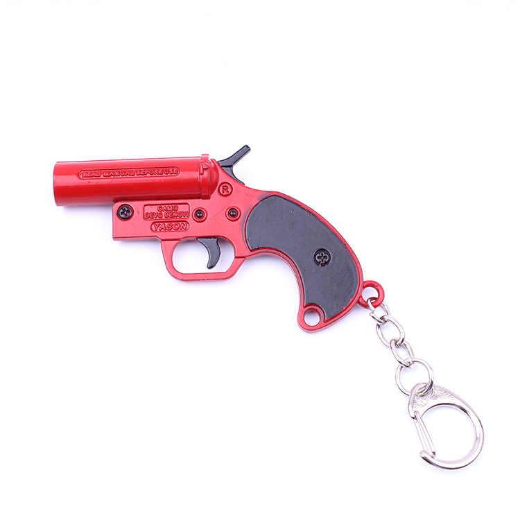 2019 Популярные джедай Survial брелок с рисунком из игры поле боя PUBG Flare пистолет модели подвесок Брелок Металлический Держатель Chaveiro аксессуар