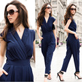 New 2016 Jumpsuit women's overall sexy fashion waist jumpsuit pants overalls 3 colors XXXL plus size