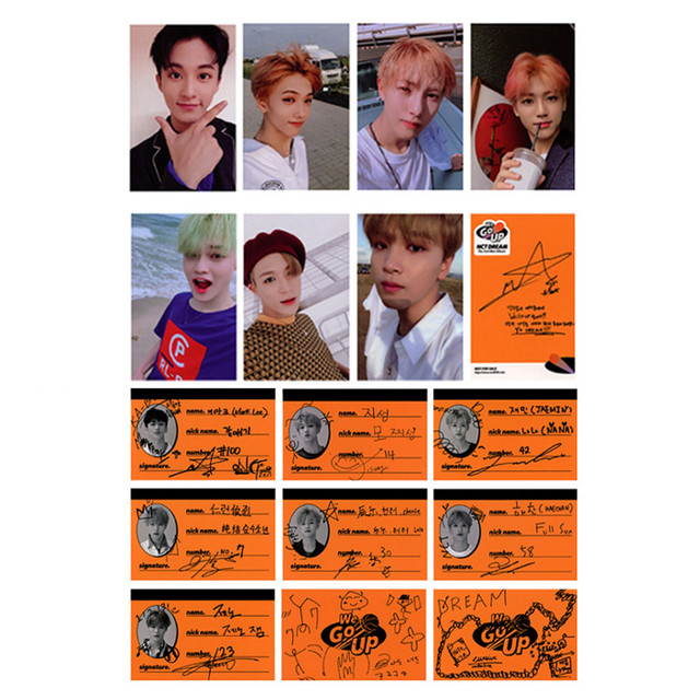 Youpop KPOP NCT DREAM We Go Up MINI 2th Album Photo Card Hip Hop Self Made  Paper Cards Autograph Photocard XK593