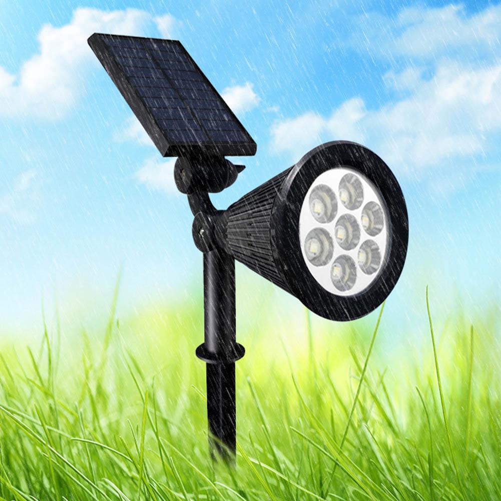 7 LED Solar Lamp Projector Color Change Wireless Waterproof Light Adjustable Spot For Outdoor Garden @8 O66 JDH99