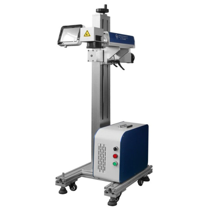 Software EZ CAD 15 W 30W Dynamic Co2 Laser Marking Machine For Production Date