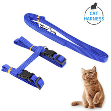 цены Adjustable Pet Dog Puppy Cat Nylon Rope Harness And Leash Set Walking Lead Harness Chest Strap for Small Dogs Pet Accessories