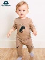 Mini Balabala bebé 2 piezas dinosaurio impreso camiseta Tops + Pantalones conjunto bebé recién nacido niños ropa de algodón suave conjunto de ropa