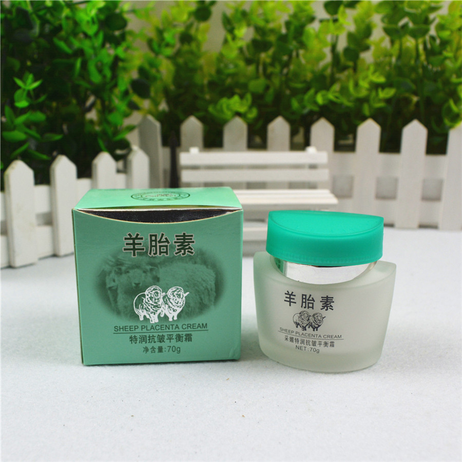 CAIMEI Chinese Herbal No additives sheep placenta extract Whitening cream face Moisturizing Natural Placenta cream 80g beverages and food additives ternate pinellia extract