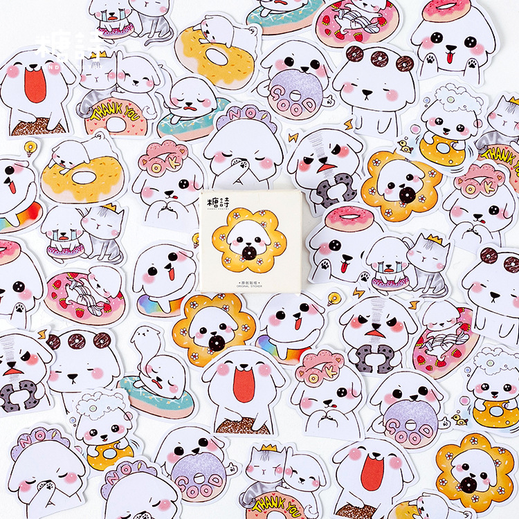 45pcs/pack Cute Foodie Paper Stickers Decorative DIY Album Diary Scrapbook Label Stickers Kawaii Stationery