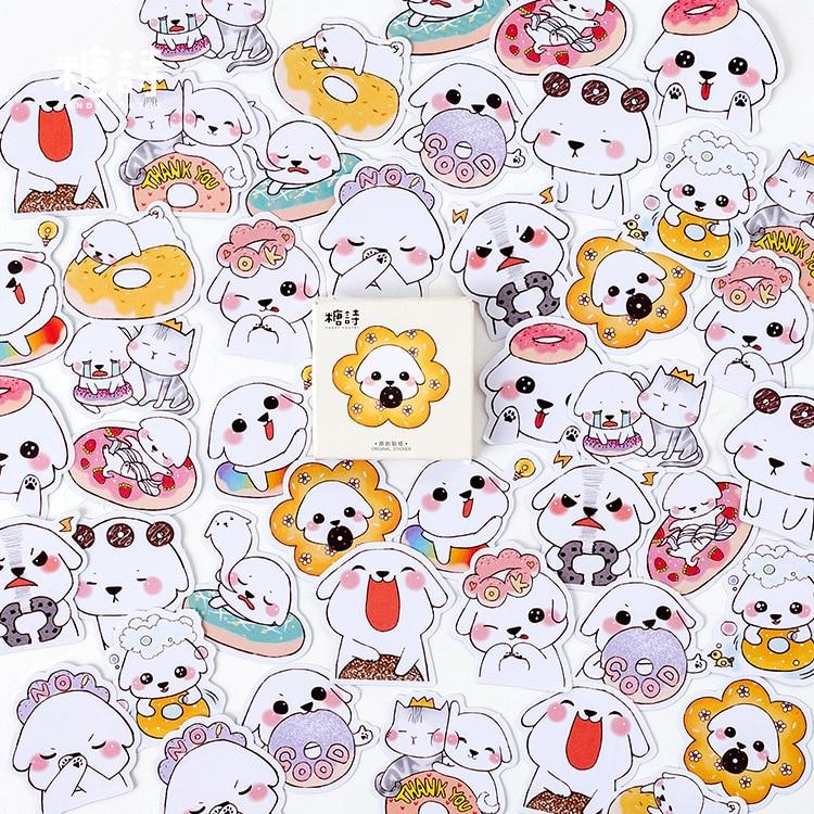 45pcs/pack Cute Foodie Paper Stickers Decorative DIY Album Diary Scrapbook Label Stickers Kawaii Stationery