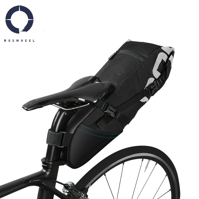 Roswheel 131414 131372 Bike Cycling Bicycle Storage Tail Bag Rear Seat Saddle Bag Pack Pannier Sack 8L 10LRoswheel 131414 131372 Bike Cycling Bicycle Storage Tail Bag Rear Seat Saddle Bag Pack Pannier Sack 8L 10L