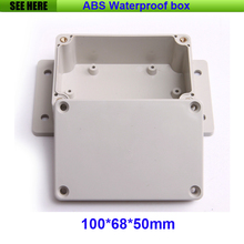Free Shipping 100*68*50mm ABS Enclosure Plastic Project Box For Electronics Waterproof Plastic Junction Box With Ear