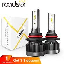 Roadsun для автомобильных фар H1 H7 светодиодный para авто лампа H11 света в сборе 9006 9005 HB3 чипов CSP фары Lanpada H4 6000 K 8000LM