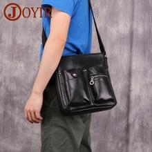 JOYIR Genuine Leather Men Shoulder Bag Crossbody Bags For High Quality Bolsas Casual Messenger Flap Vintage Male Handbag