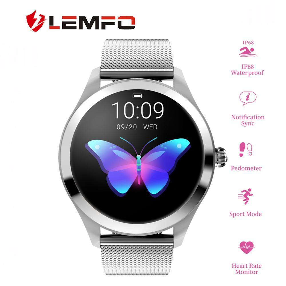 Women Smart Watch IP 68 Heart Rate Monitor Message Call Reminder Pedometer Calorie LEMFO Smartwatch Women Men for Android IOS new garmin watch 2019