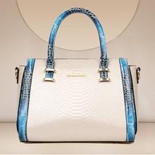 Luxus Frauen handtasche der Desinger Mode Damen Umhängetasche Hochwertigen Pu-leder Alligator Casual-einkaufstasche