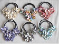 Miễn phí Các Đẹp Baroque Văn Hóa Thuyền Ngọc Trai Ba Shell Floral Hoa Vòng Cổ Handmade Đối Với Phụ Nữ Black Leather Choker Ngọc Trai J