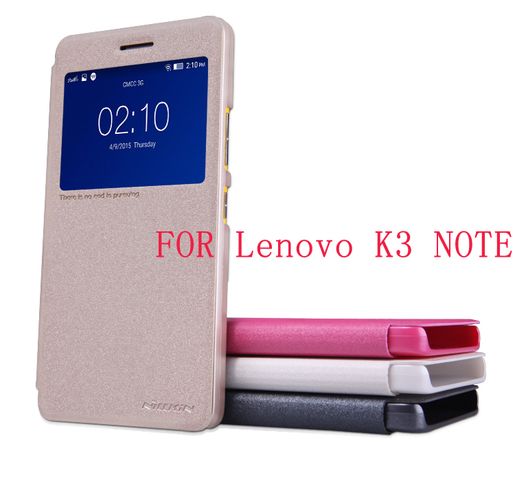 Lenovo K3 NOTE Case NILLKIN Sparkle super thin flip cover luxury leather case for Lenovo K3 NOTE(A7000) with Retailed Package