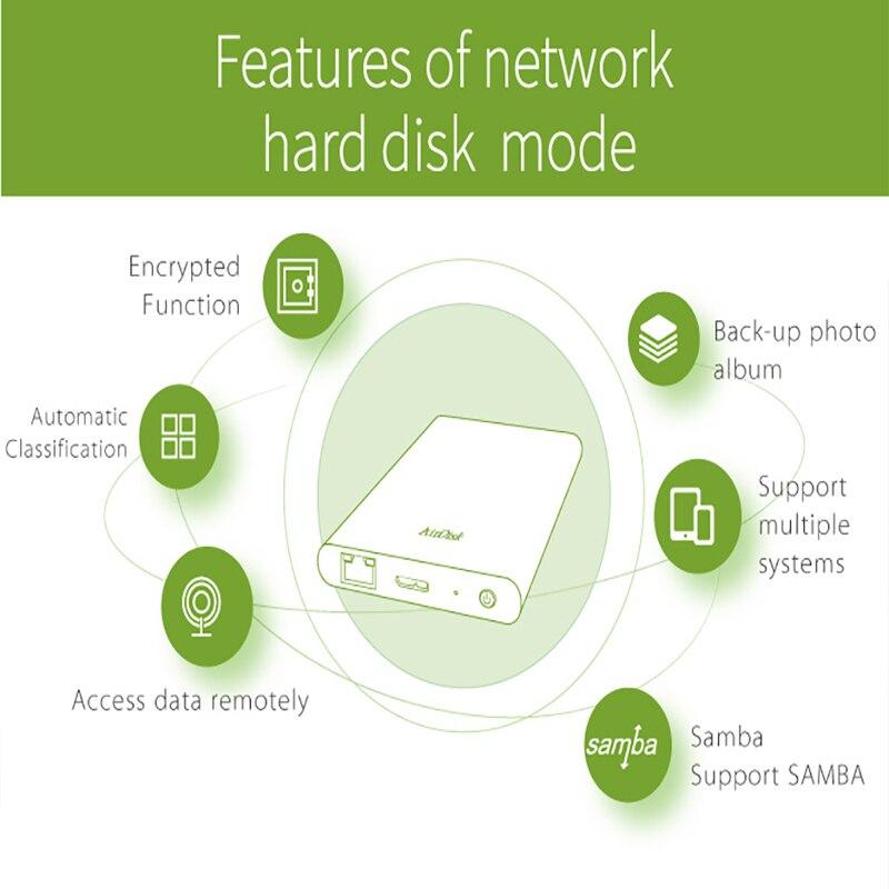 Boîtier de disque dur Portable réseau DM T2 USB3.0 à SATA pour 2.5 pouces HDD SSD couleur gris foncé Design de mode - 4