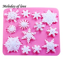 3D christmas decorations snowflake Lace chocolate Party DIY fondant baking cooking cake decorating tools silicone mold T0026(China)