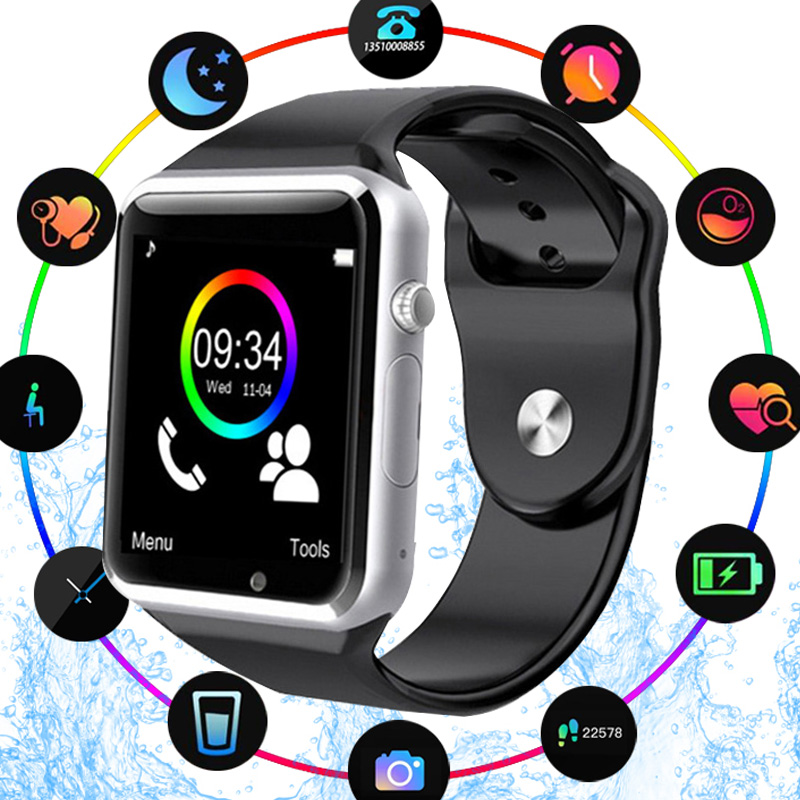 A1 Smart Watch Clock Sync Notifier Support SIM TF Card Connectivity Apple iphone Android Phone SmartwatchA1 Smart Watch Clock Sync Notifier Support SIM TF Card Connectivity Apple iphone Android Phone Smartwatch