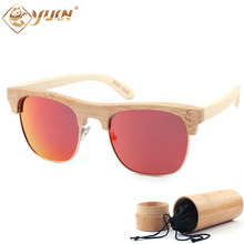 2017 Summer fashion polarized sunglasses men font b handmade b font bamboo font b glasses b