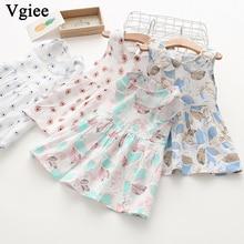 Vgiee Dress for Baby Girls Dresses 2019 Spring Summer Party Princess Dress Sleeveless Print Little Girls Clothing CC259