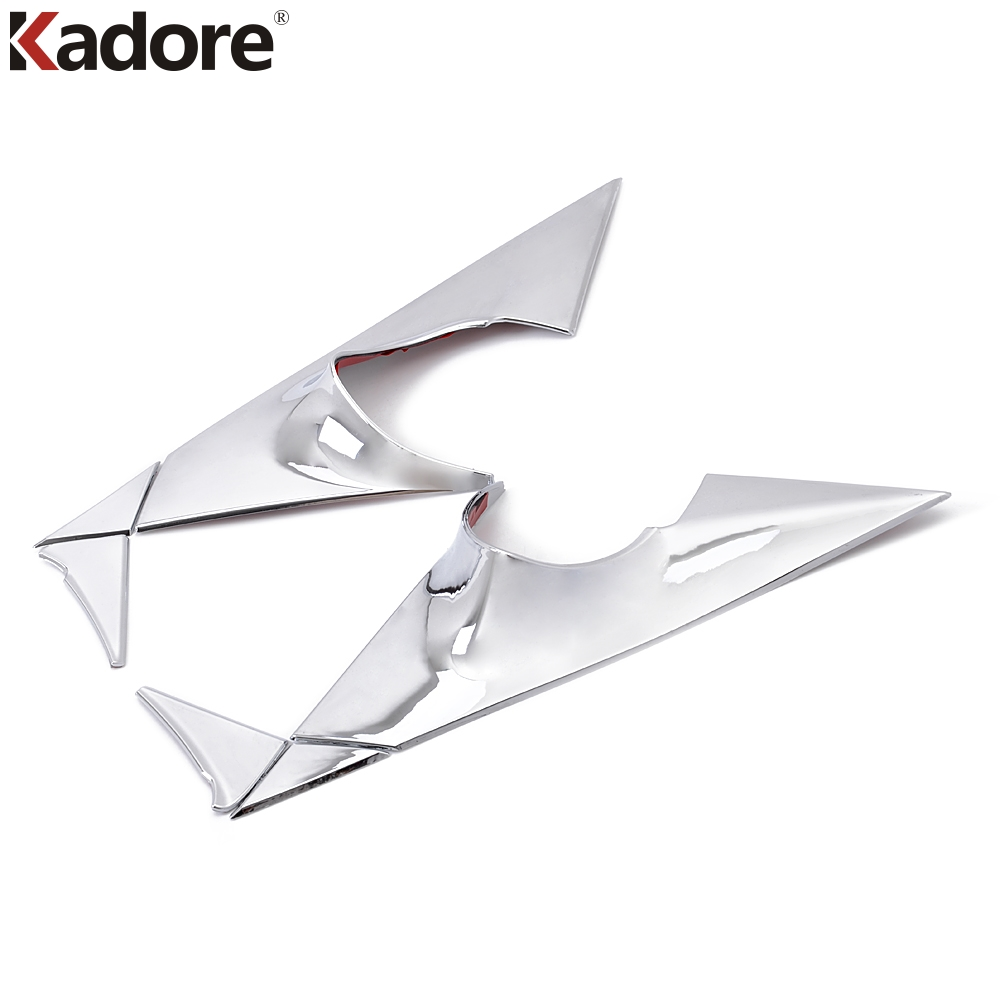 Kadore Car Styling For Kia Sportage 2011 2012 2013 2014 ABS Chrome Front Window Triangle Cover Trim Auto Window A Pillar 6pcs for 2011 2012 2013 2014 2015 kia sportage high quality plastic abs chrome front rear bumper cover trim car styling accessories