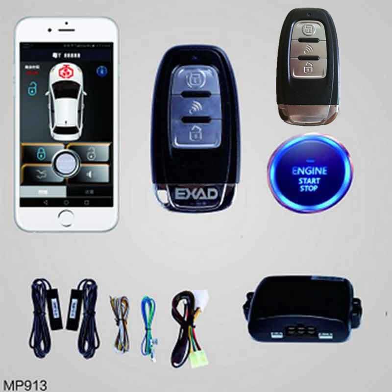 Smartphone A Distanza di Allarme Auto Starline Compatibile Android Del Telefono Auto di Arresto di Inizio del Motore del Sistema di Chiusura Centralizzata A Distanza Keyless Entry PKE