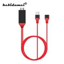 Kebidumei 1M 1080P HD Có Dây TV Stick USB Nữ Để HDMI Nam Với USB Công Suất Phản Chiếu Màn Hình HD dành Cho IOS Iphone Cho BOX Android