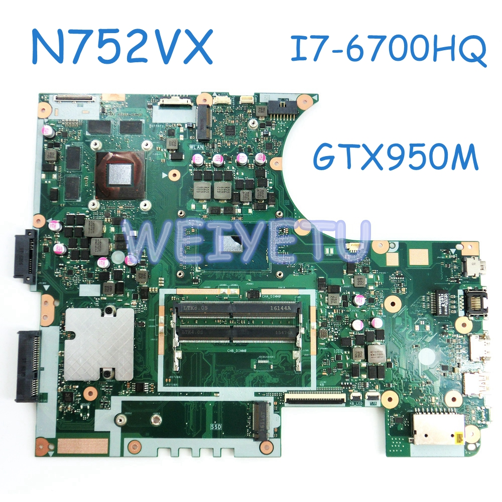 N752VX MB._0M I5-6300 / <font><b>I7</b></font>-<font><b>6700HQ</b></font> <font><b>CPU</b></font> GTX950M laptop motherboard for ASUS N752 N752V N752VX laptop Motherboard 90NB0AY0-R00020 image