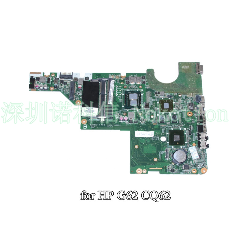 NOKOTION DAAX1JMB8C0 637584-001 for HP Pavilion G62 CQ62 Laptop motherboard i3-370M CPU HM55 HD6370M 512M 574680 001 1gb system board fit hp pavilion dv7 3089nr dv7 3000 series notebook pc motherboard 100% working