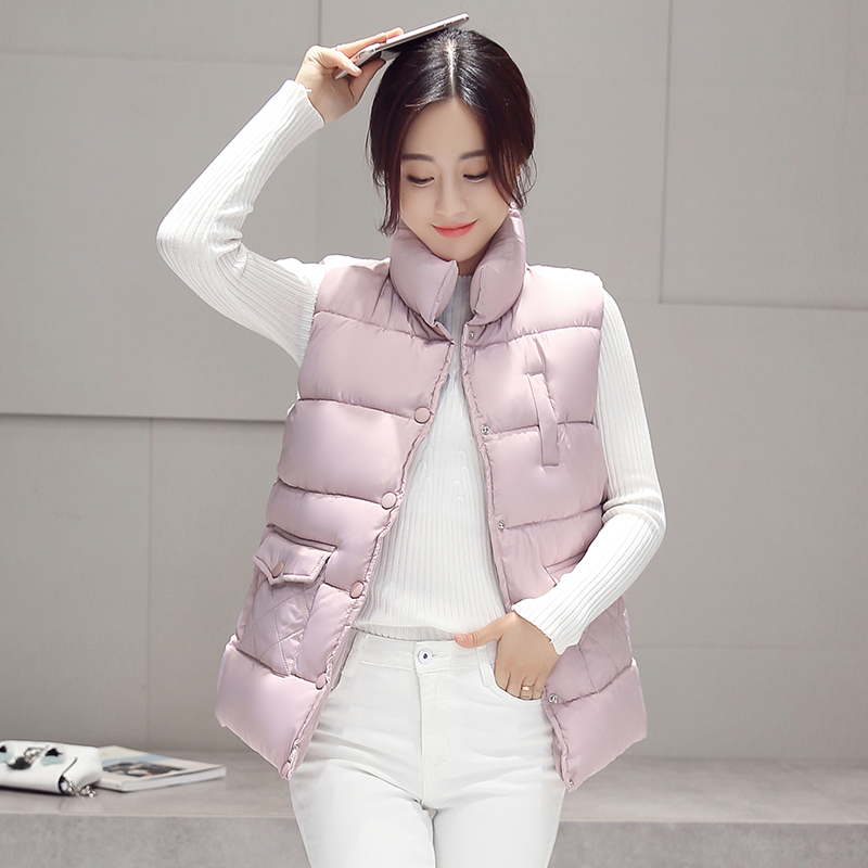 Neue 2017 herbst und winter frauen baumwolle weste weiße ente unten weiche warme weste plus größe 3XL weibliche outwear marke weste mantel