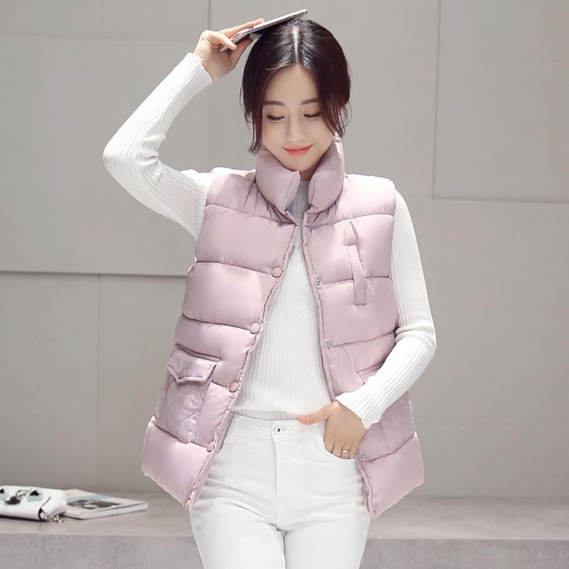 New 2017 autumn and winter women cotton vest white duck down soft warm waistcoat plus size 3XL female outwear brand vest coat
