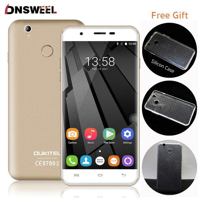 Бесплатный Случай Oukitel U7 Плюс 4 Г Сотовый Телефон MT6737 Quad Core отпечатков пальцев ID Смартфон 2 Г + 16 Г 13MP Android 6.0 GPS мобильного телефона