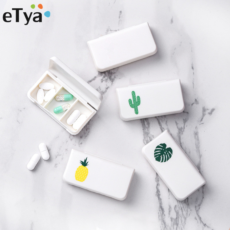 ETya Fashion Packing Organizers Bag  New Women Creative Mini Packing Drug Pill Packing Box Travel Accessories