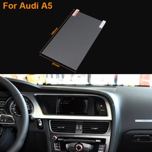 Car Styling 7 Inch GPS Navigation Screen Steel Protective Film For Audi A5 Control of LCD Screen Car Sticker