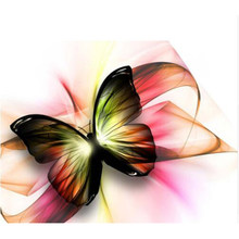 5D diamond painting Cartoon Butterfly Decorative painting bedroom room Embroidered diamond cross stitch picture painting YY(China)