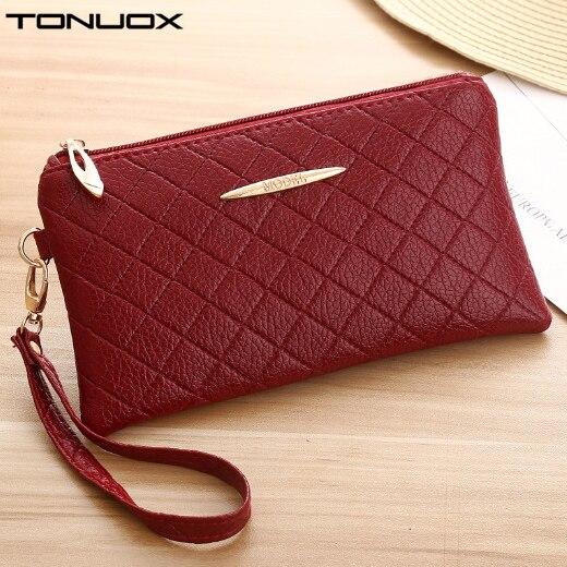 Women Purses Envelope Wristlet Phone New Wallet Bags Money-Keys-Cards Zipper Tote Girls
