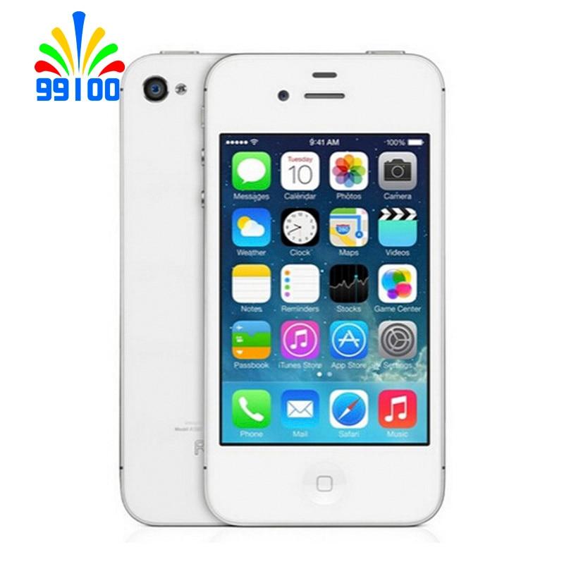 Apple iphone 4S, telefone celular, original, desbloqueado de fábrica, dual core, 16gb/32gb/64gb, câmera 8mp telefone gps 3.5 ''touchscreen usado 1