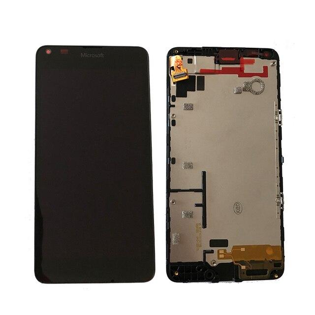 Оригинальный Для Microsoft Nokia Lumia 640 ЖК-дисплей Дисплей с Сенсорный экран планшета в сборе с рамкой Бесплатная доставка