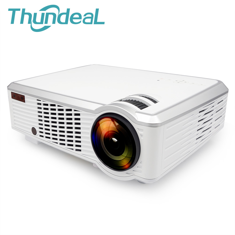 все цены на  ThundeaL Led33+02 Plug Projector Android 4.4 WIFI Smart 2000Lumens Wireless HD 3D Beamer Proyector Home Theater SD HDMI USB VGA  онлайн